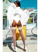 Большие крылья ангела белые (80 см) CC039 (420039) - цена, 4