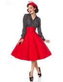 Красная юбка в стиле Ретро (107131) - материал, 6