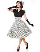 Винтажная юбка с высоким поясом (107132) - 5, 12