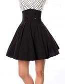 Черная юбка клеш с высоким поясом (107134) - материал, 6