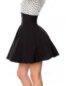 Черная юбка клеш с высоким поясом (107134) - оригинальная одежда, 2