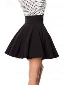Черная юбка клеш с высоким поясом (107134) - 3, 8