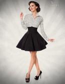 Черная юбка клеш с высоким поясом (107134) - foto