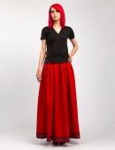 Длинная юбка с вышивкой и кружевом (107118) - оригинальная одежда, 2