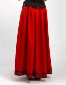 Длинная юбка с вышивкой и кружевом (107118) - foto