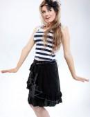 Летняя юбка с поясом (107026) - foto