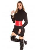Черный свитер-платье KC5434 (105434) - цена, 4