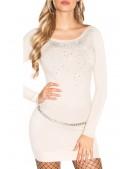 Вязаное платье с декором спереди MF5007 (165007) - оригинальная одежда, 2
