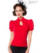 Красная блузка в стиле Ретро