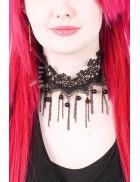 Кружевное ожерелье с цепочками XJ6206