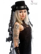 Шляпа-цилиндр со съемной фатой Xstyle