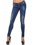 Узкие джинсы со стразами SC8031