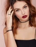 Ожерелье-чокер с кольцом и браслетом
