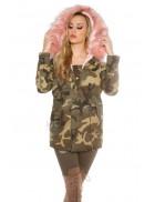Камуфляжная зимняя куртка карго с мехом MF2130