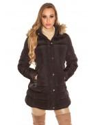 Зимняя женская куртка с капюшоном MF2133