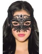 Черная карнавальная маска XC1038
