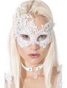 Белая ажурная маска для глаз A1046