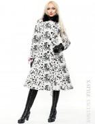 Зимнее пальто с мехом на воротнике X-Style