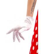 Белые перчатки из атласа A1152