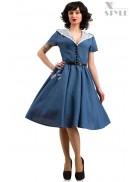 Винтажное льняное платье X5353