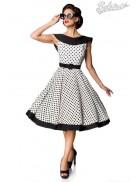 Винтажное платье в горошек B5390