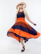 Летнее платье в стиле 80-х 105118