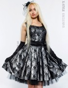 Винтажное платье с подъюбником, перчатками и поясом