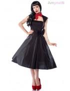 Черное платье Рокабилли AN5294