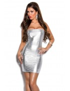 Блестящее серебристое платье MF7160