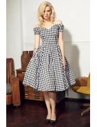 Ретро платье с открытыми плечами XC5325
