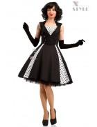 Черно-белое платье в стиле Ретро X5338