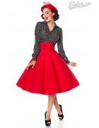 Красная юбка в стиле Ретро