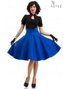 Юбка в стиле 50-х (синий электрик)