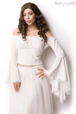 Белая блузка в пиратском стиле A212