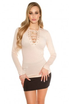 Блуза с воротником и блестками MF2160