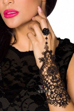 Кружевной браслет с кольцом Amynetti
