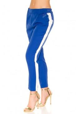 Синие брюки с лампасами MF8090