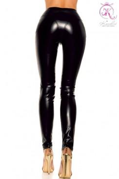 Облегающие брюки под кожу KC103