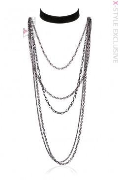 Длинное ожерелье и чокер XA222
