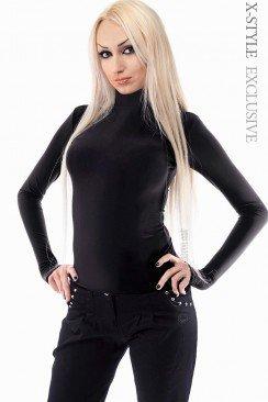 Черная водолазка женская 101107