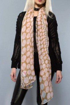 Длинный женский шарф (хлопок)