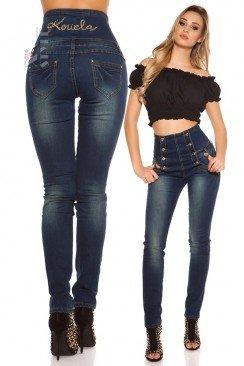 Утягивающие джинсы с высокой талией KC8075