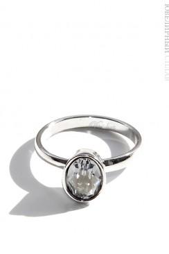 Овальное кольцо с камнем Swarovski