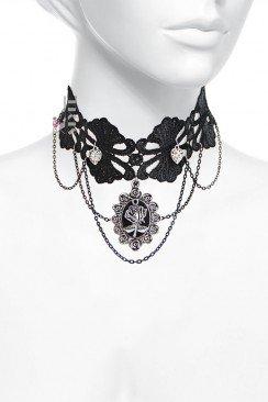 Ожерелье-чокер с камеей X6200