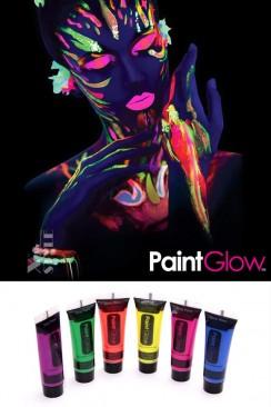 Неоновые краски для лица и тела (6 цветов)