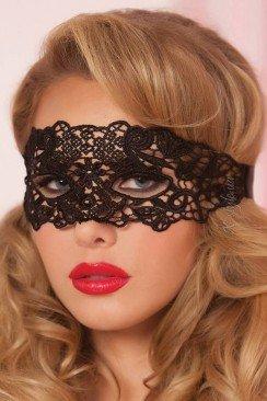 Ажурная черная маска 901011