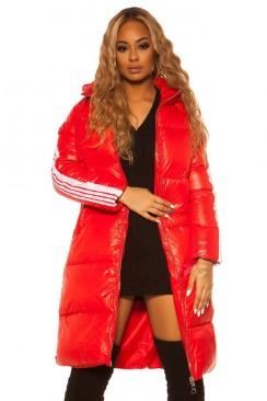Красная зимняя куртка с лампасами M2142