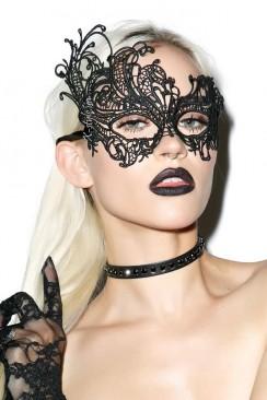 Черная ажурная маска XC1080
