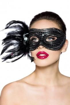 Карнавальная маска с перьями Amynetti