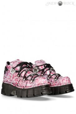 Женские кроссовки из натуральной кожи Vintage Flower Lila